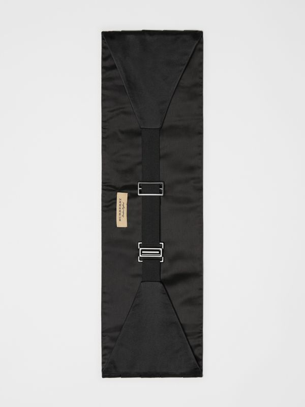 Pleated Silk Cummerbund in Black - Men | Burberry Canada - cell image 2
