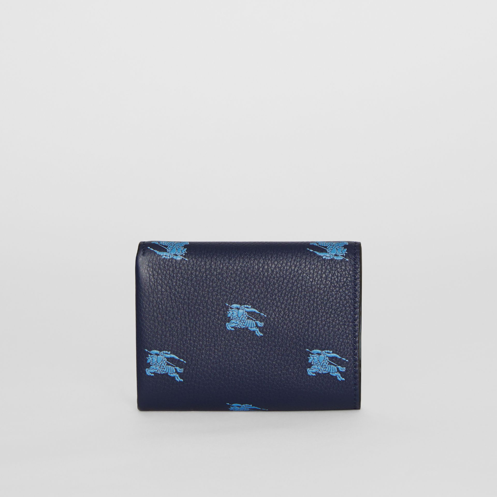 Small EKD Leather Wallet in Regency Blue - Women | Burberry - gallery image 4