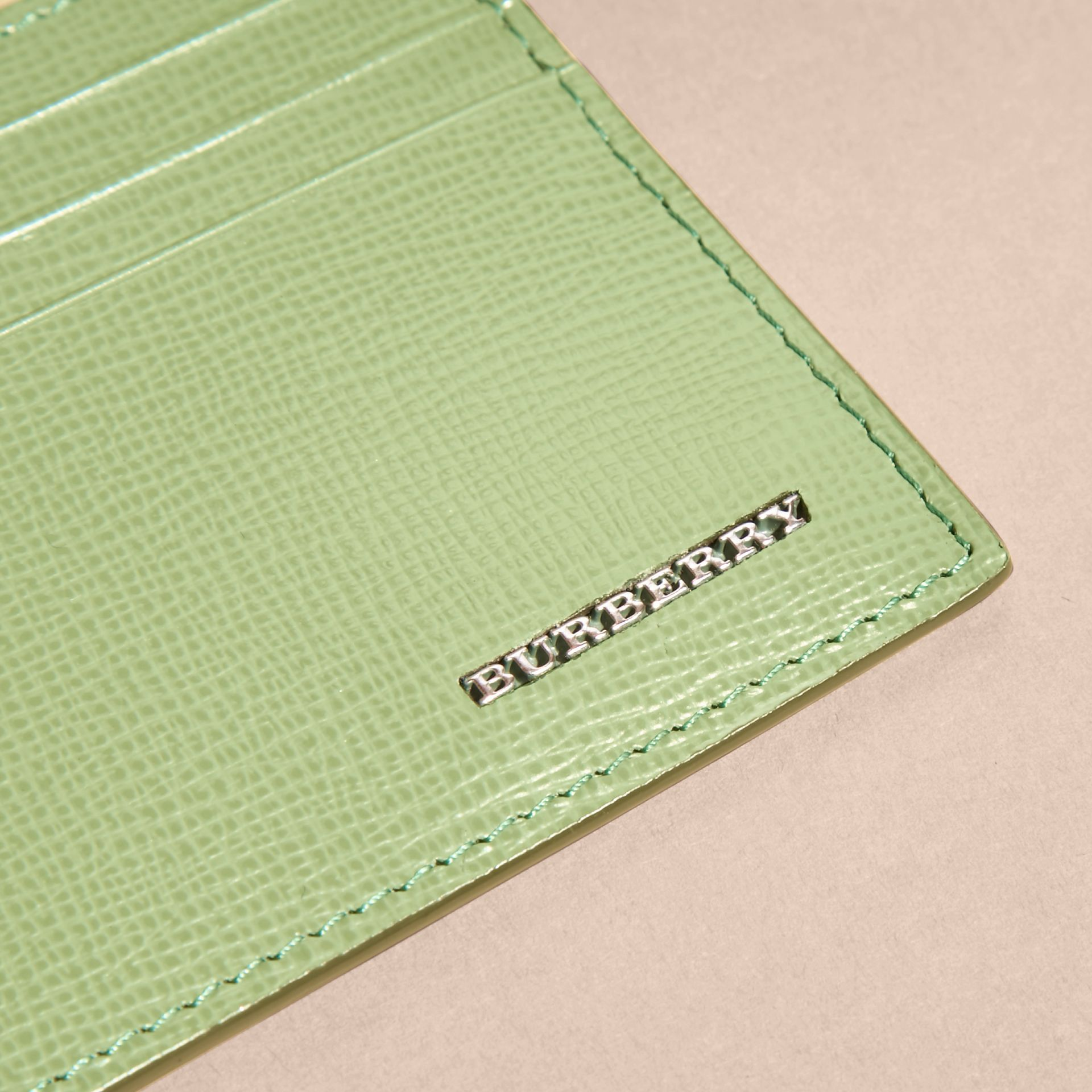 London Leather Card Case in Antique Green - gallery image 3