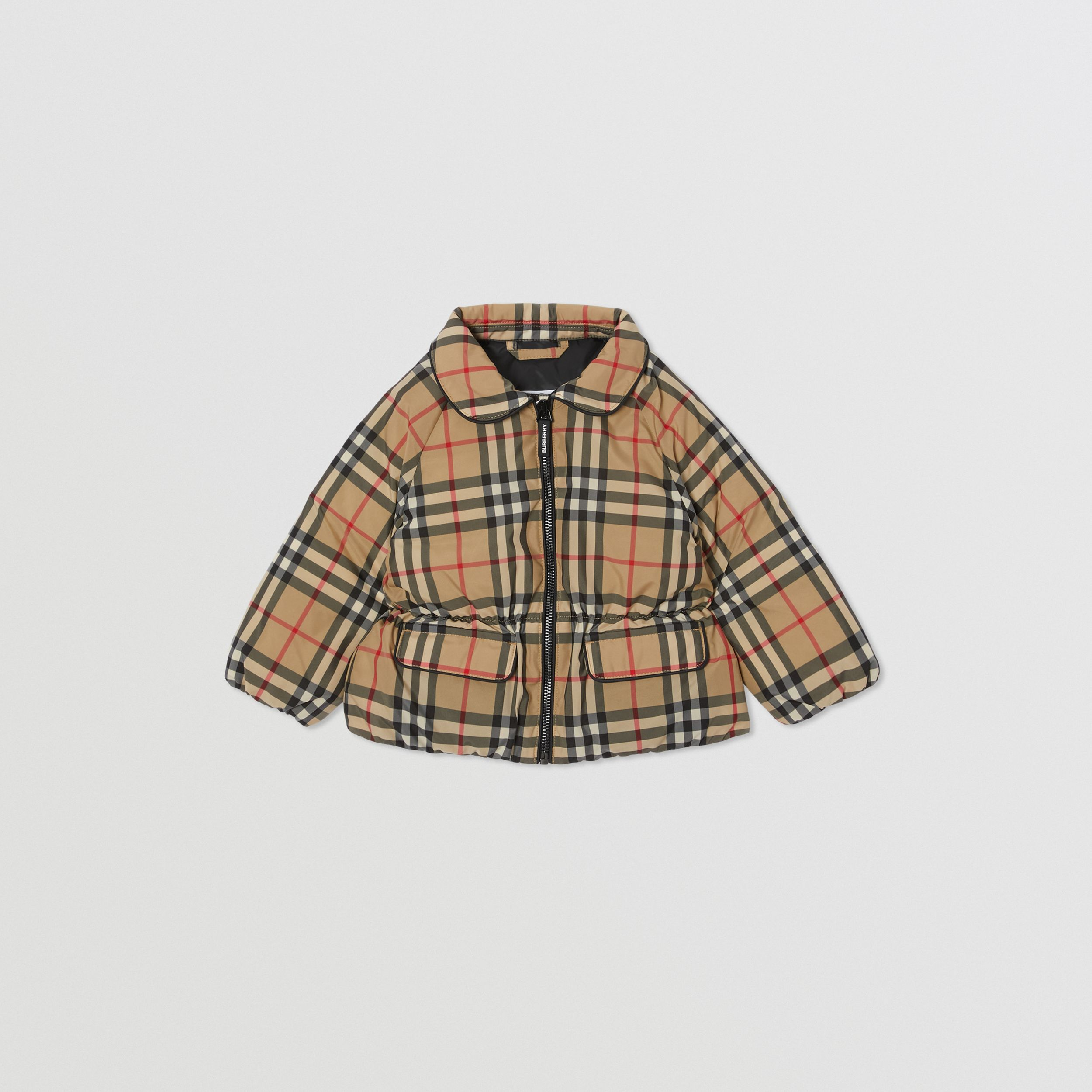 Vintage Check Down-filled Recycled Polyester Jacket in Archive Beige - Children | Burberry - 1