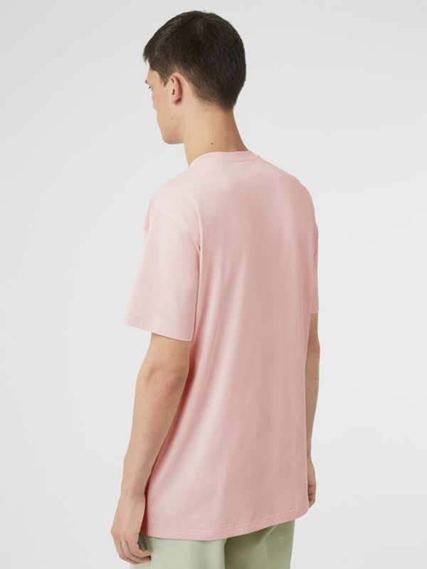 Logo Print Cotton T-shirt in Alabaster Pink - Men | Burberry United Kingdom - cell image 2