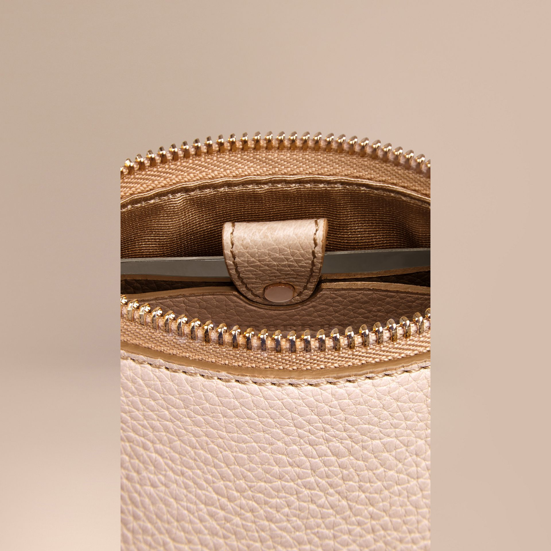 Grainy Leather Lipstick Case in Stone - Women | Burberry - gallery image 5