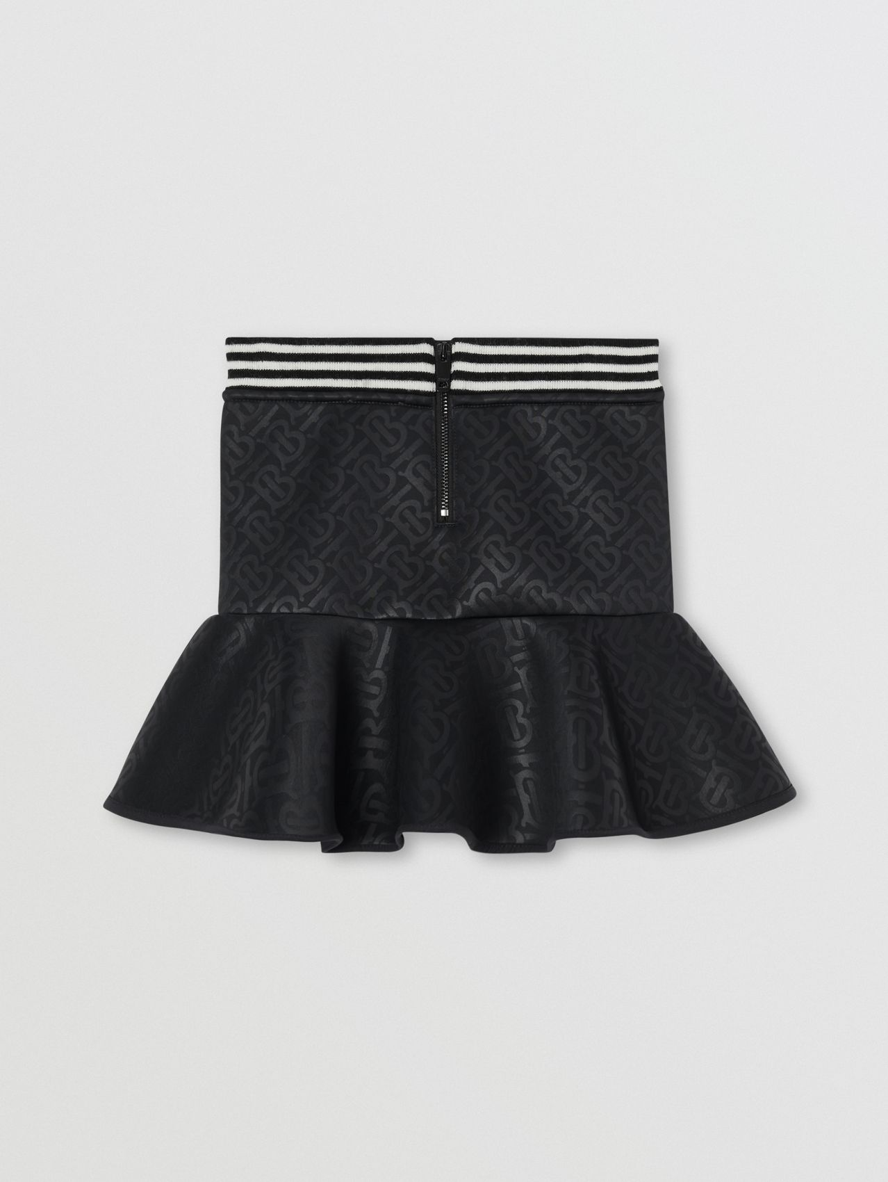 Logo Appliqué Monogram Jersey Skirt in Black