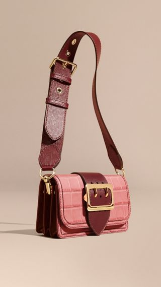 Borsa The Buckle in alligatore e pelle