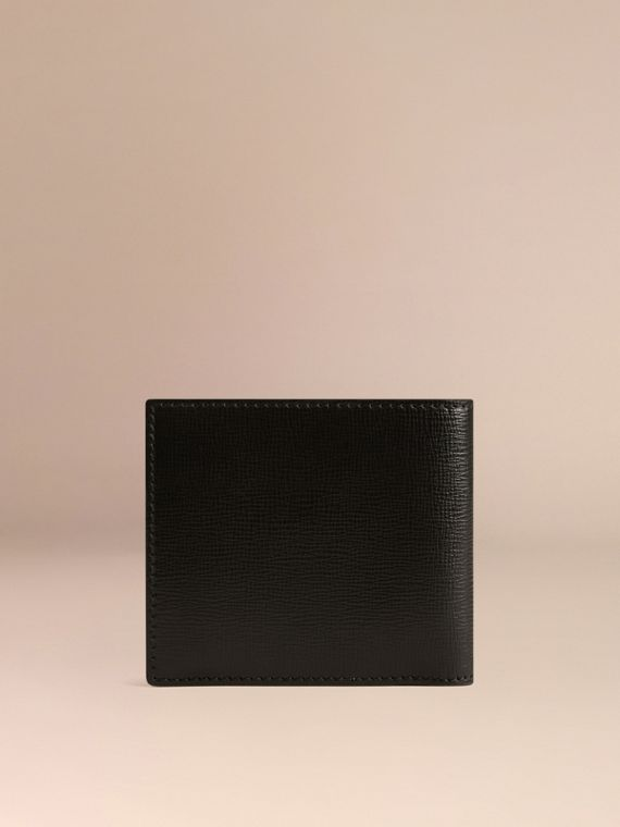 Black London Leather Folding Coin Wallet Black - cell image 2