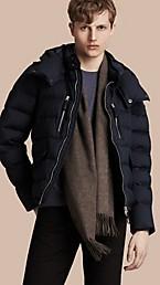 Down-filled Silk Wool Puffer Jacket