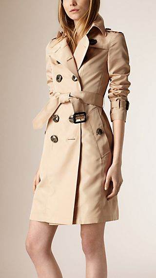 Trench-coat en faille de soie