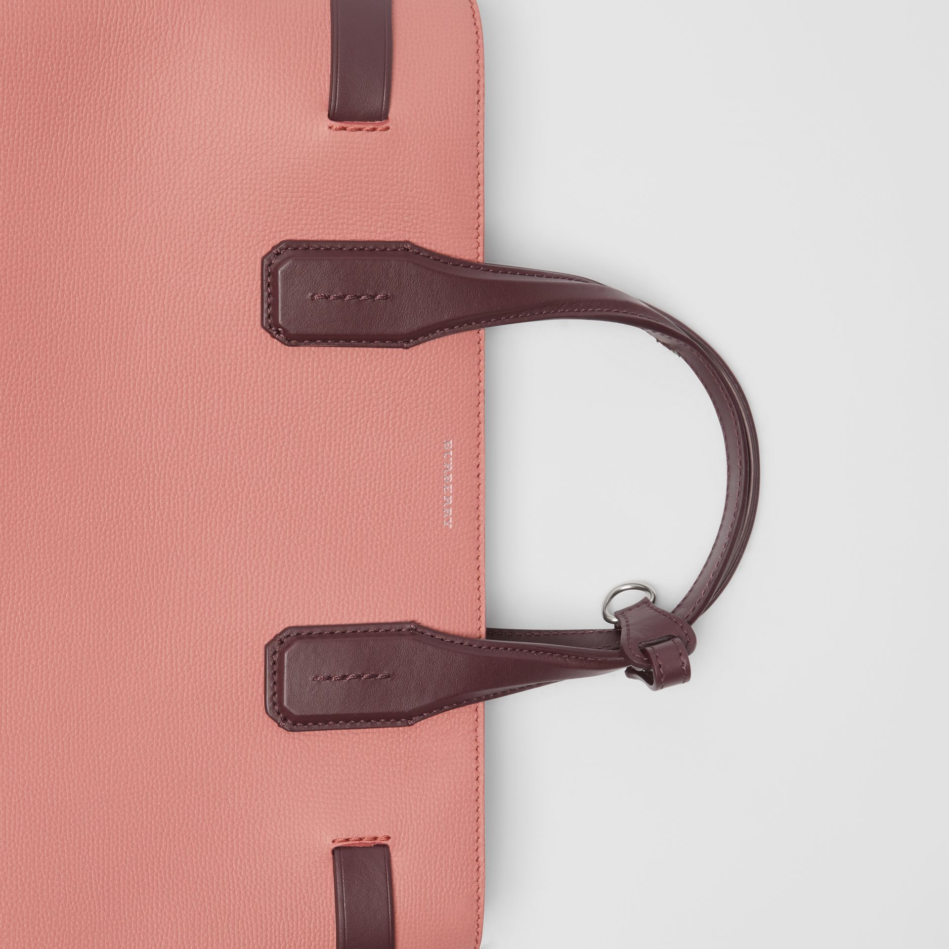 The Medium Banner in Two-tone Leather in Dusty Rose/deep Claret - Women | Burberry United Kingdom - gallery image 1