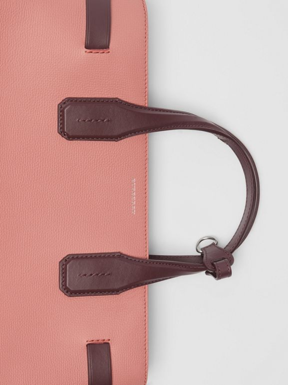 The Medium Banner in Two-tone Leather in Dusty Rose/deep Claret - Women | Burberry United Kingdom - cell image 1