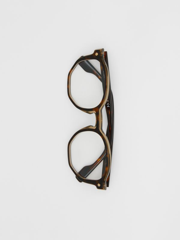 Geometric Optical Frames in Tortoiseshell - Women | Burberry - cell image 3
