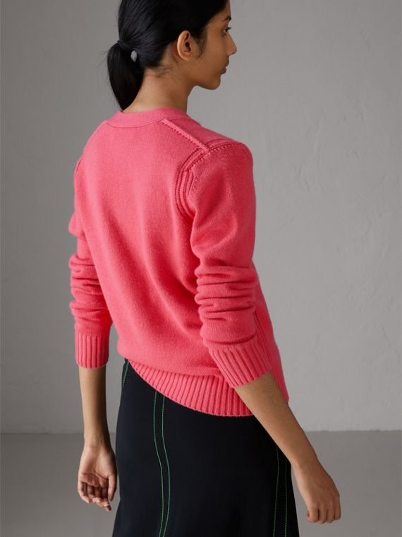 Bird Button Cashmere Cardigan in Rose Pink - Women | Burberry United Kingdom - cell image 2