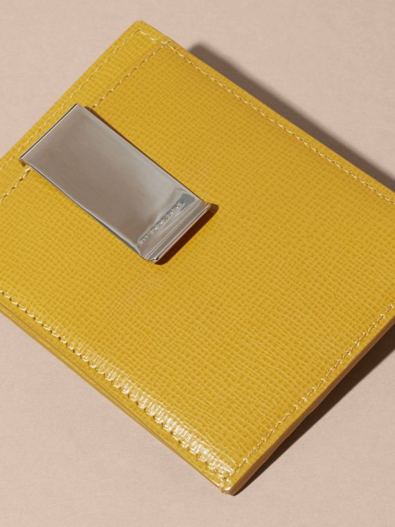 London Leather Money Clip Card Case Larch Yellow - cell image 3
