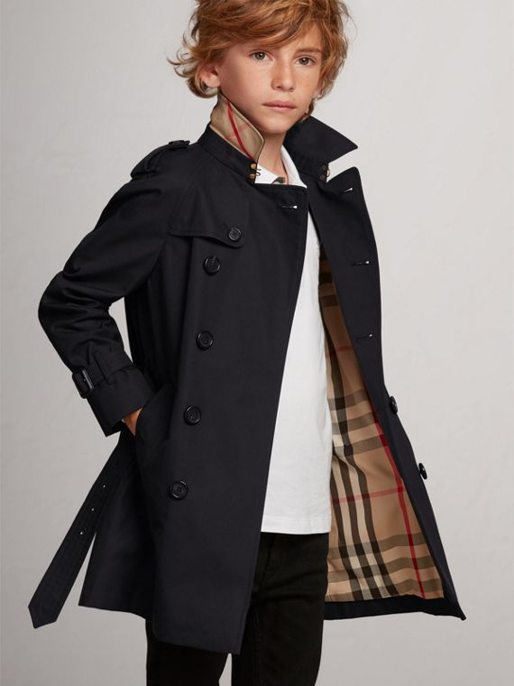 The Wiltshire Trench Coat in Navy - Boy | Burberry Australia - cell image 2