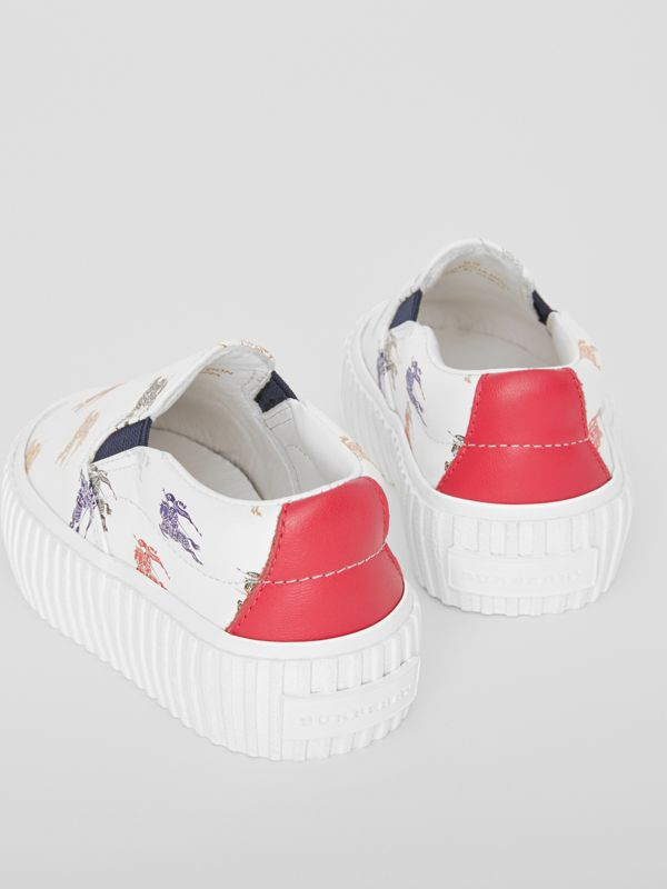 EKD Leather Slip-on Sneakers in Optic White - Children | Burberry - cell image 2