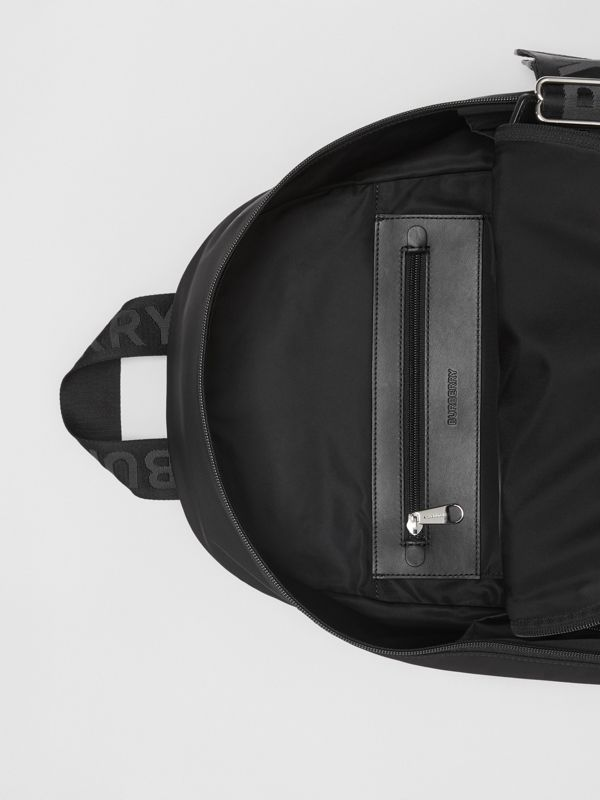 Large Logo Detail Nylon Backpack in Black - Men | Burberry Australia - cell image 3