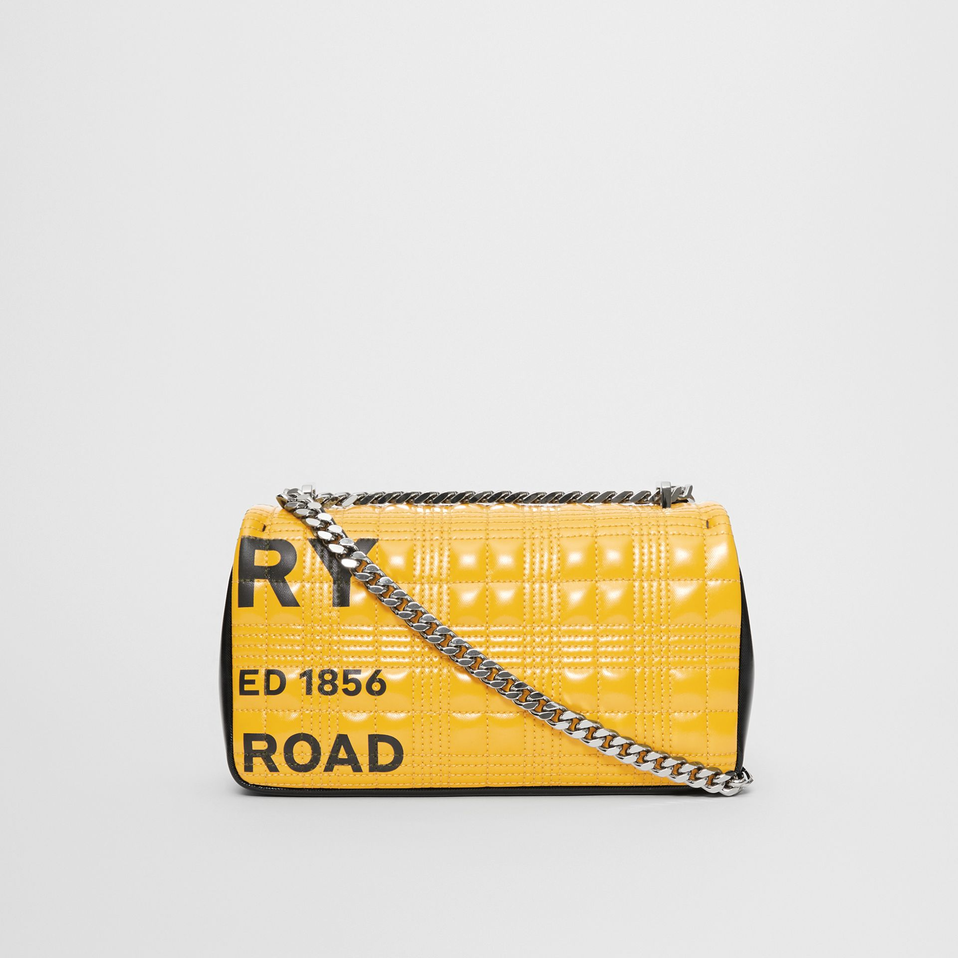 Small Horseferry Print Quilted Check Lola Bag in Yellow | Burberry - gallery image 6