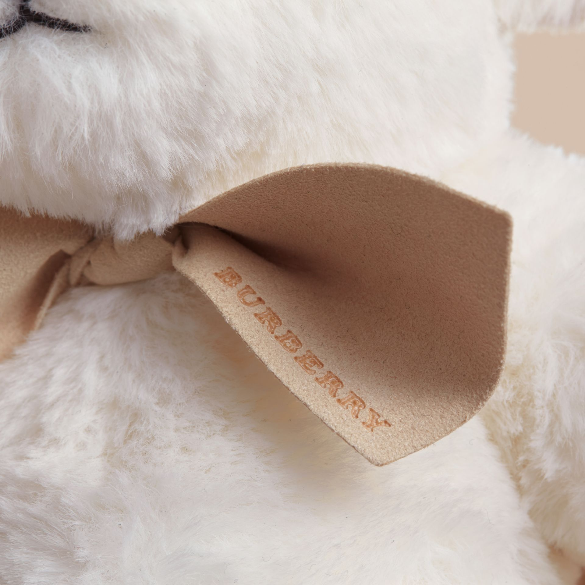 Thomas Baby Bear with Check Detail in White | Burberry - gallery image 2