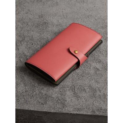Equestrian Shield Leather Wallet - Pink & Purple Burberry Gk9T5Puu