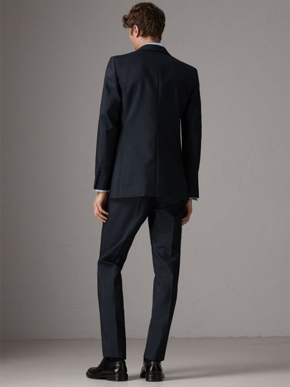 Slim Fit Wool Half-canvas Tuxedo in Navy - Men | Burberry United Kingdom - cell image 2