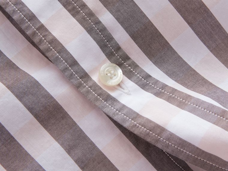 Button-down Collar Gingham Cotton Shirt in Chalk Pink - Men | Burberry - cell image 1