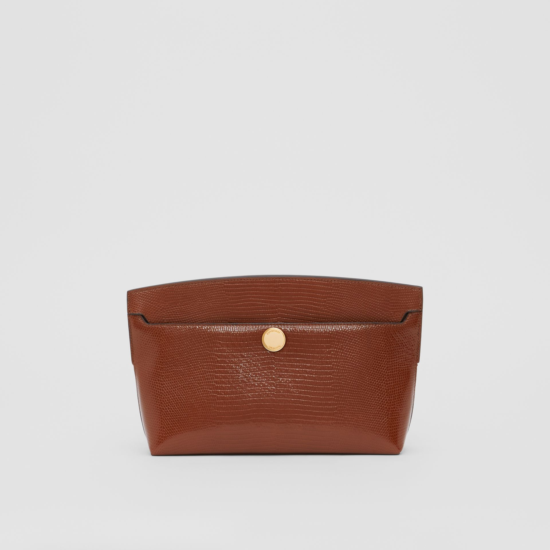 Embossed Deerskin Society Clutch in Tan - Women | Burberry - gallery image 0