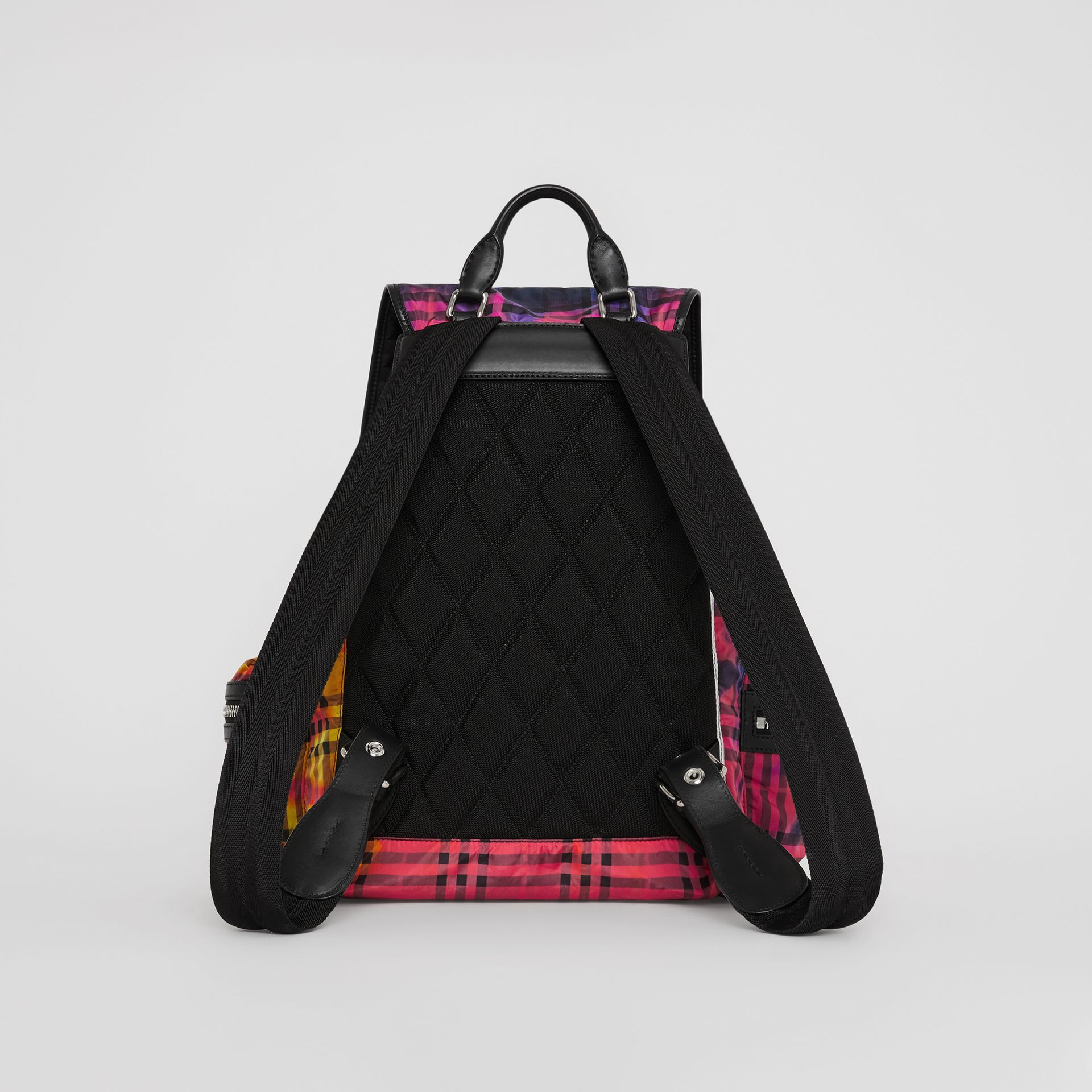 The Large Rucksack in Tie-dye Vintage Check in Multicolour | Burberry - gallery image 7