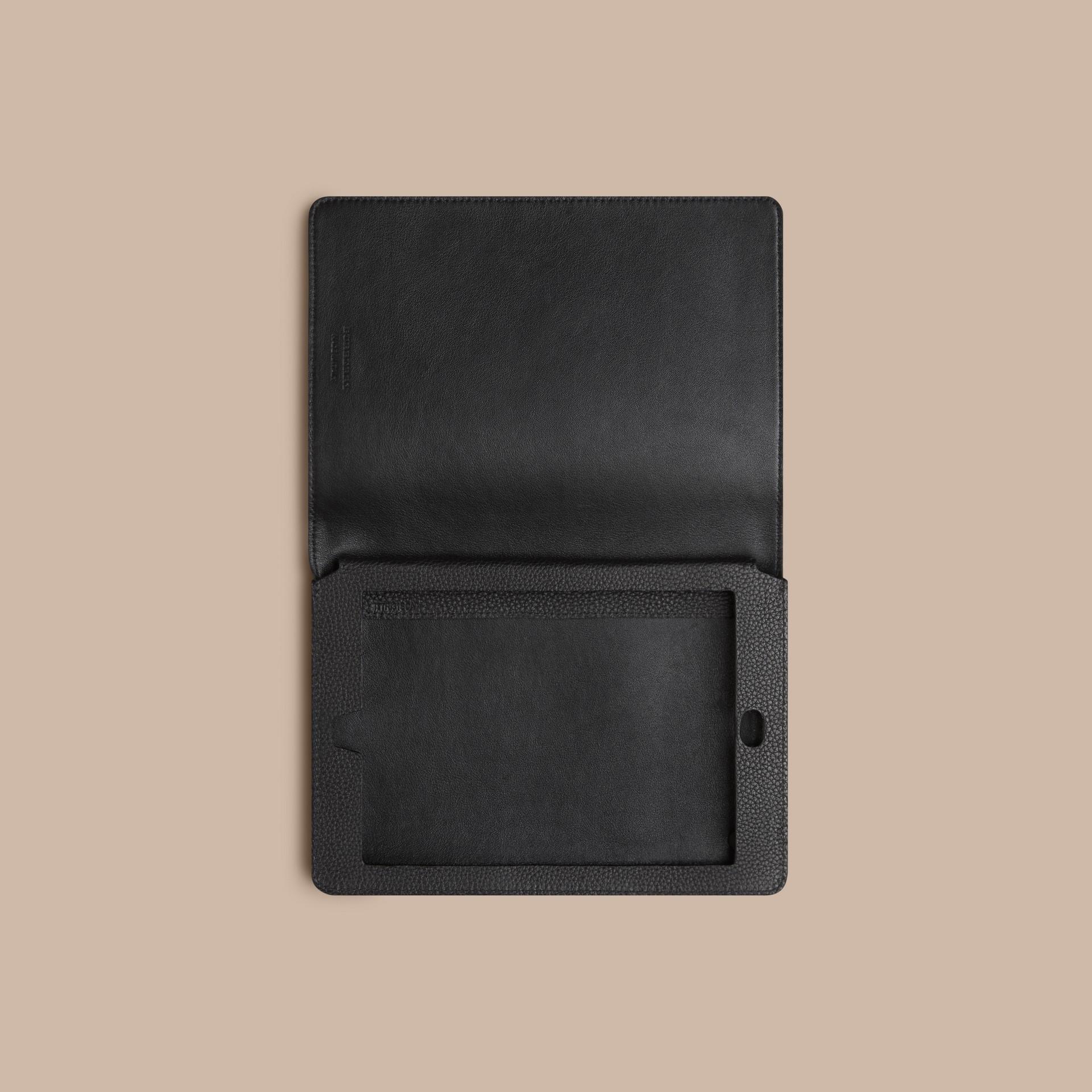 Black Grainy Leather iPad Mini Case Black - gallery image 3