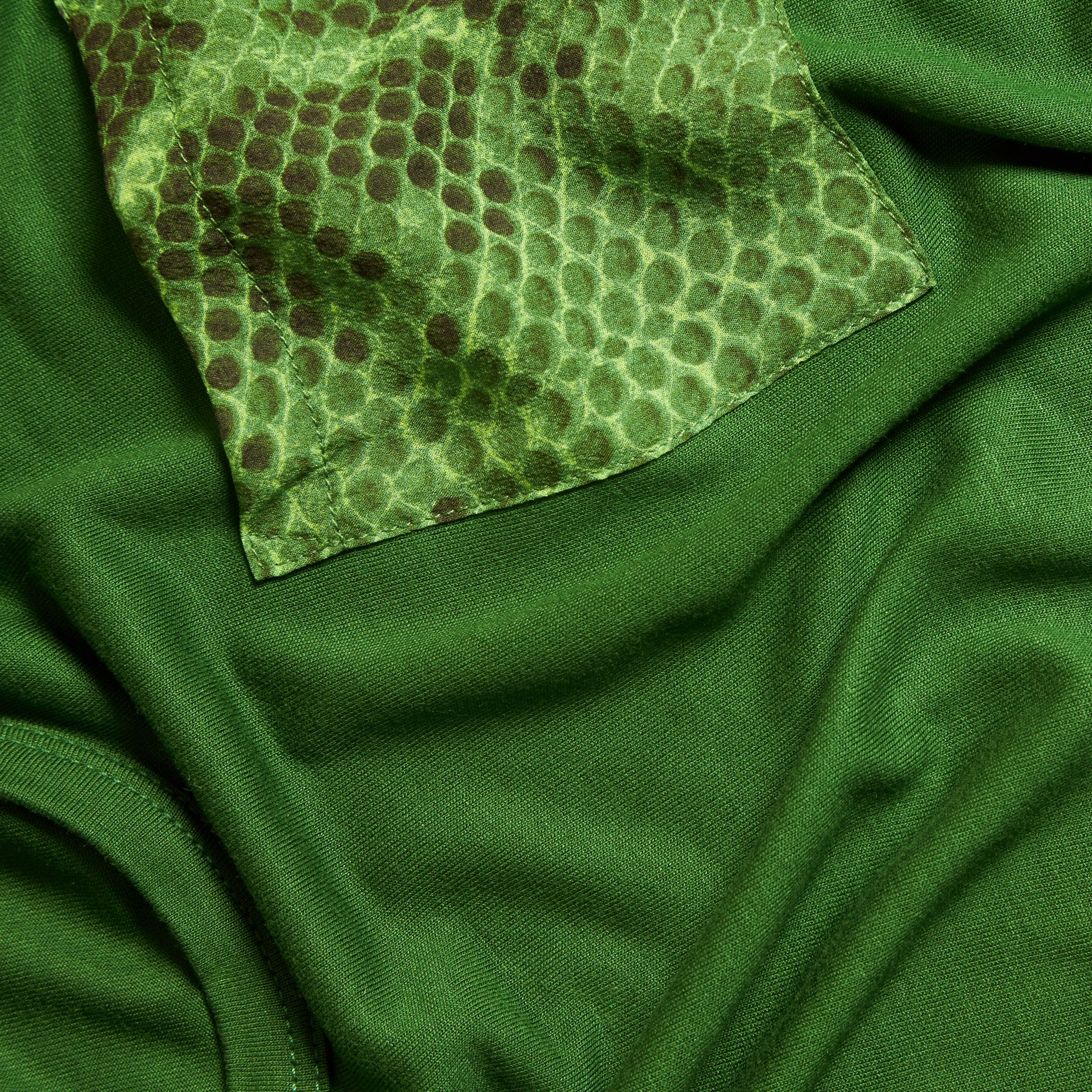 Pigment green Python Print Detail T-Shirt Pigment Green - gallery image 2