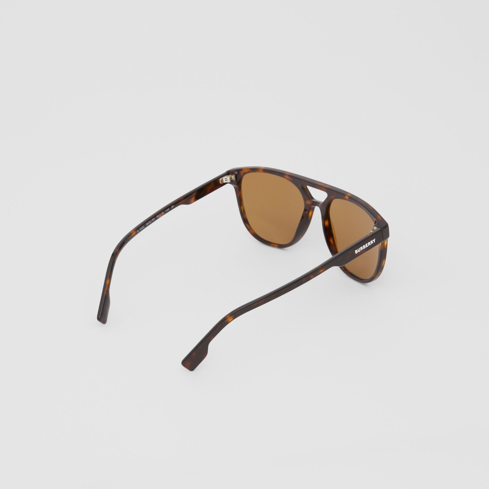 Navigator Sunglasses in Tortoiseshell - Men | Burberry United Kingdom - gallery image 4