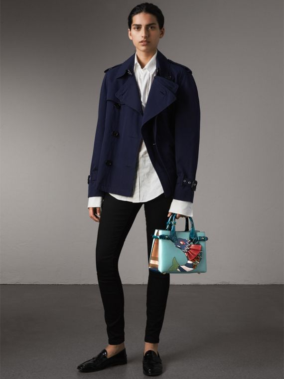 The Small Banner in Leather with Beasts Motif - Women | Burberry Australia - cell image 2