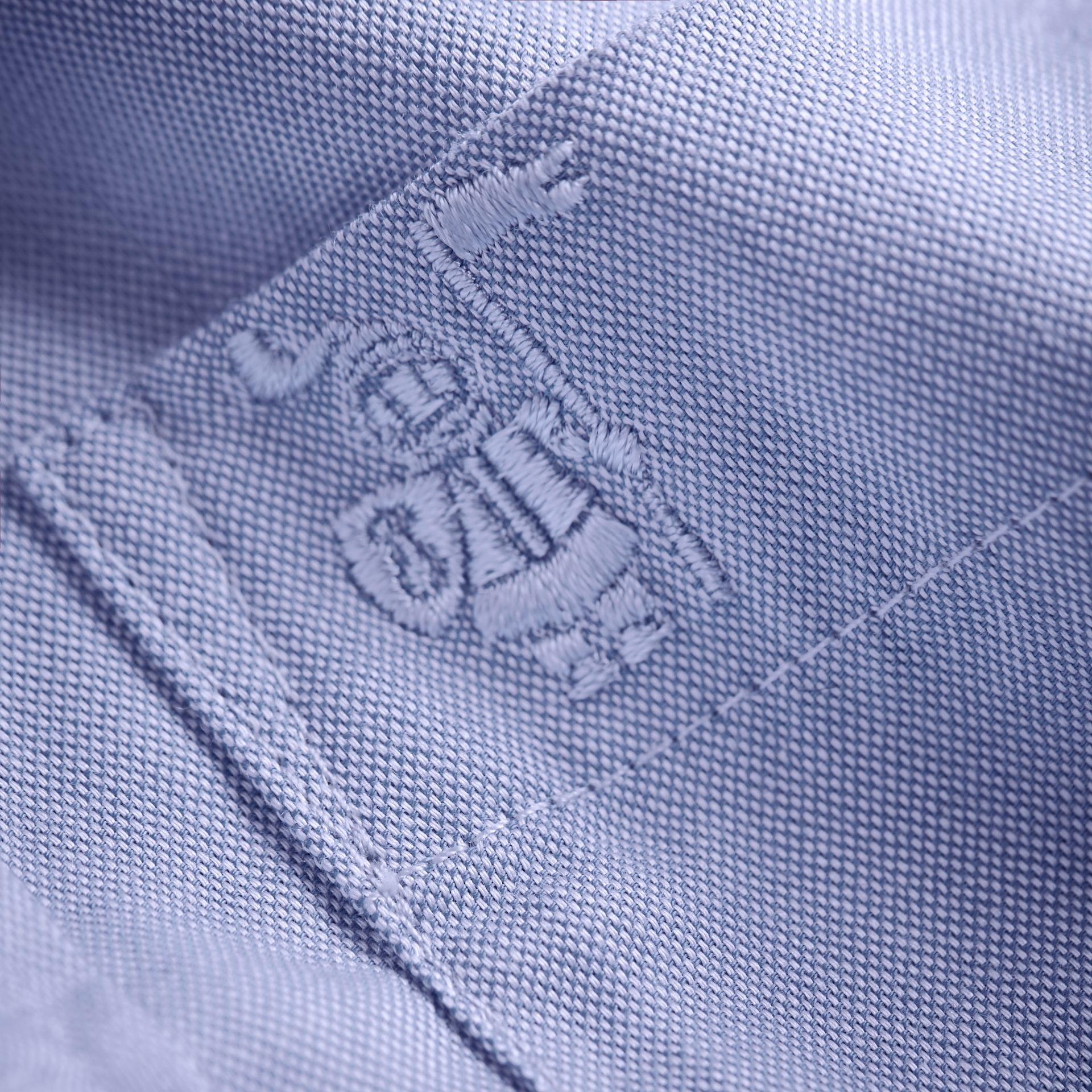 Cotton Oxford Shirt in Cornflower Blue | Burberry - gallery image 2