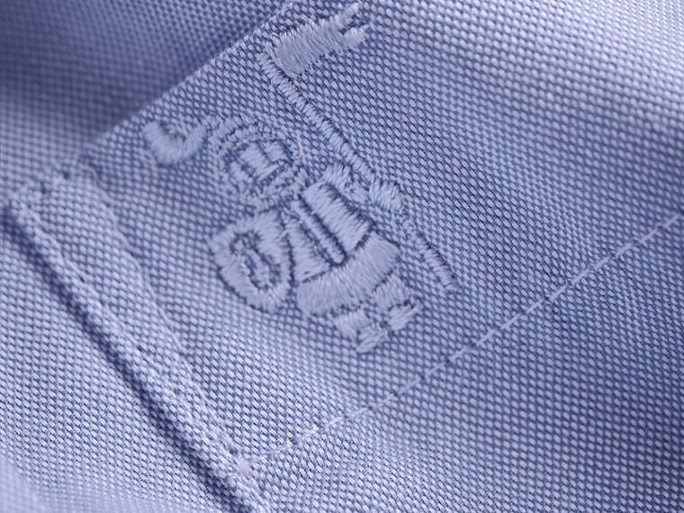 Cotton Oxford Shirt in Cornflower Blue | Burberry - cell image 1