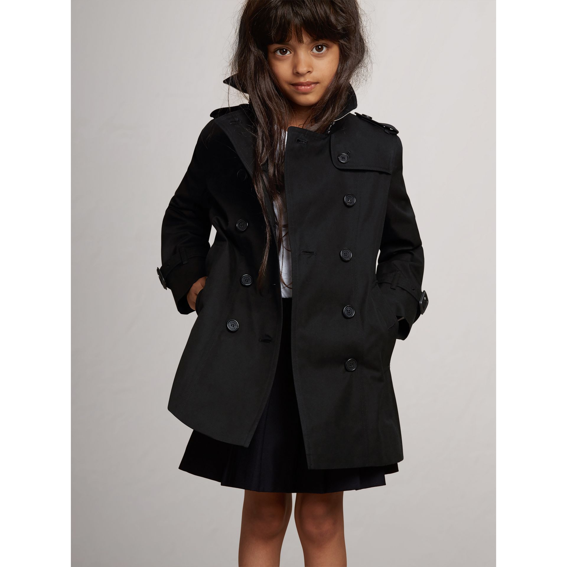 The Sandringham Trench Coat in Black - Girl | Burberry Australia - gallery image 2
