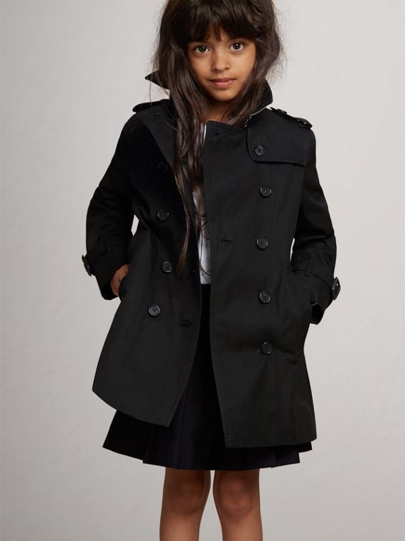 The Sandringham Trench Coat in Black - Girl | Burberry - cell image 2