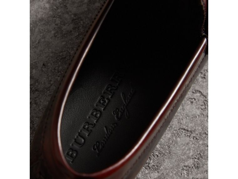 Tasselled Polished Leather Loafers in Bordeaux - Men | Burberry - cell image 1