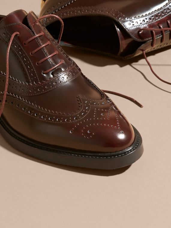Bordeaux Leather Wingtip Brogues - cell image 2