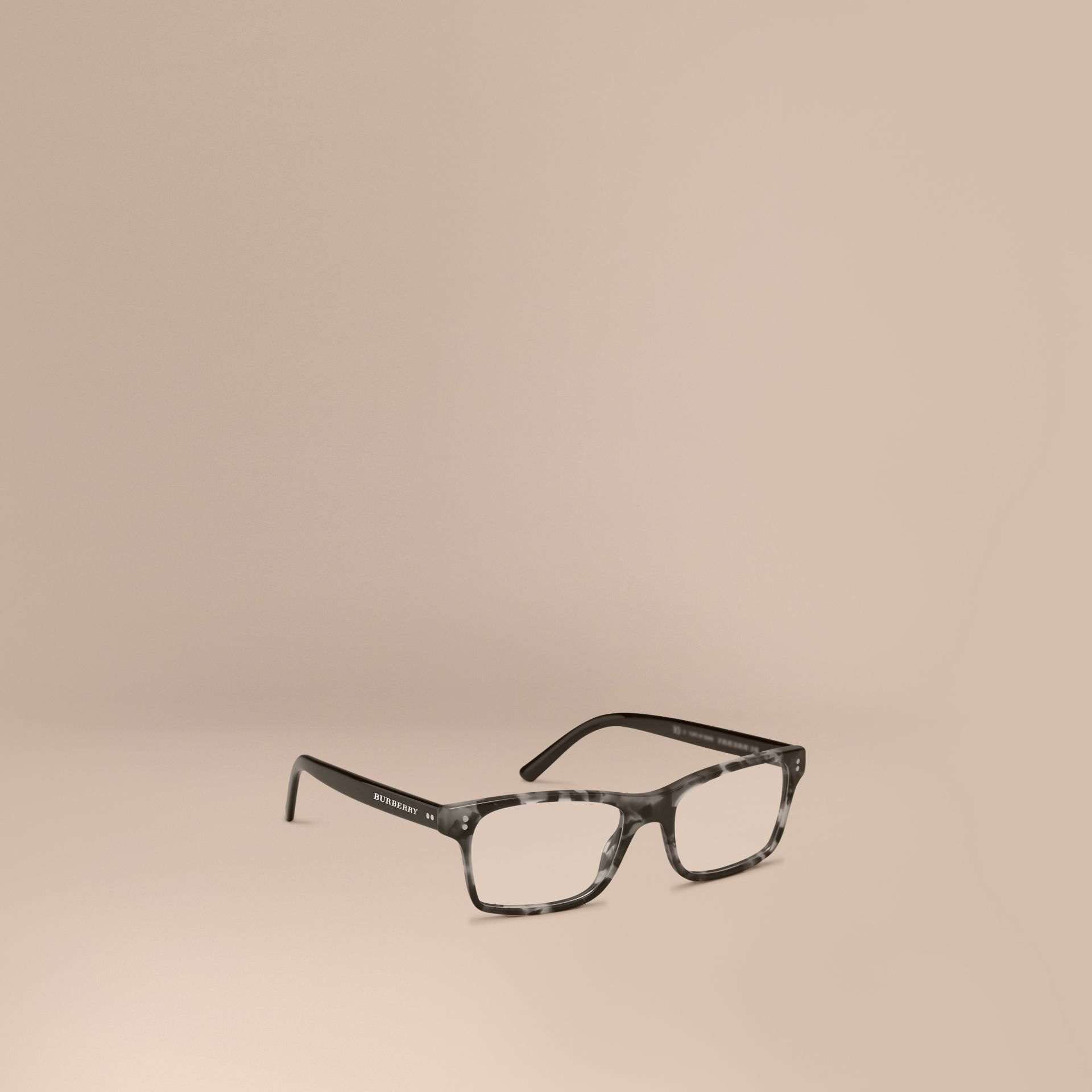 Rectangular Optical Frames Pale Grey Melange - gallery image 1