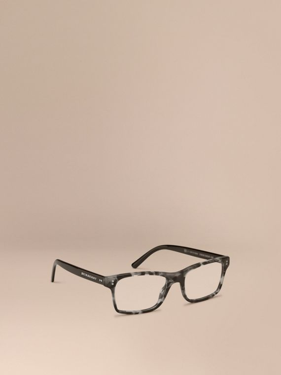 Rectangular Optical Frames Pale Grey Melange