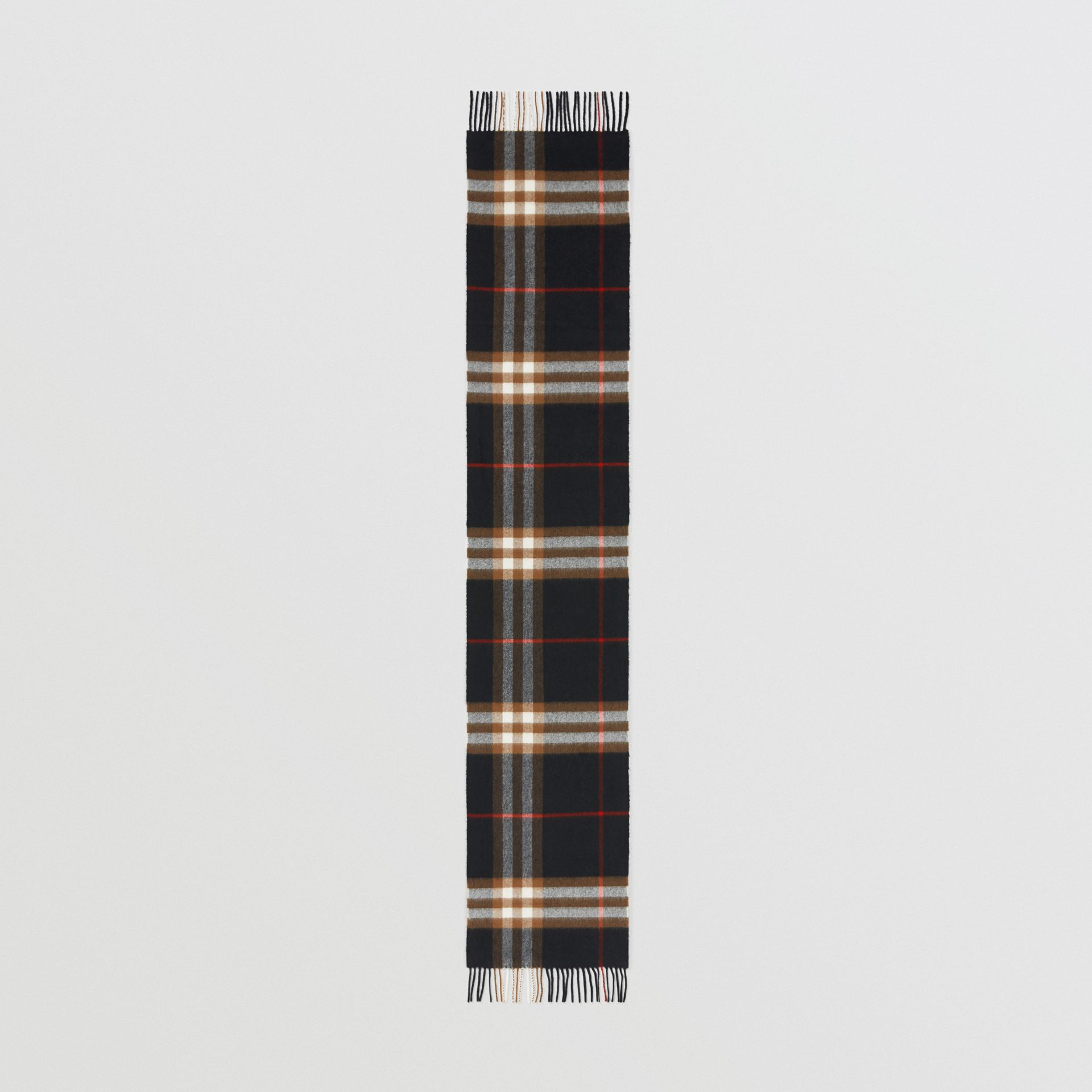 The Classic Check Cashmere Scarf in Black/brown | Burberry - gallery image 5