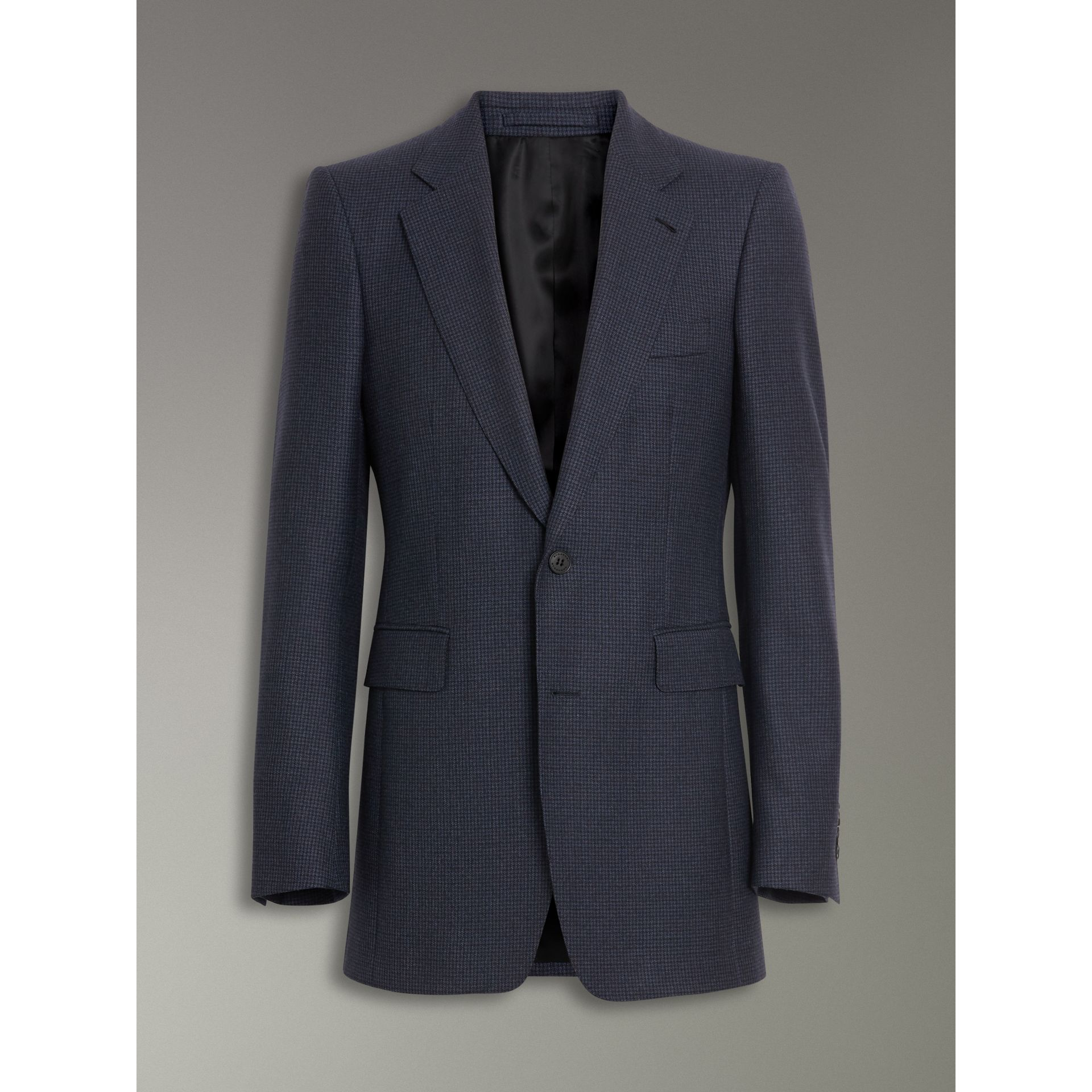Slim Fit Puppytooth Wool Suit in Navy - Men | Burberry - gallery image 3