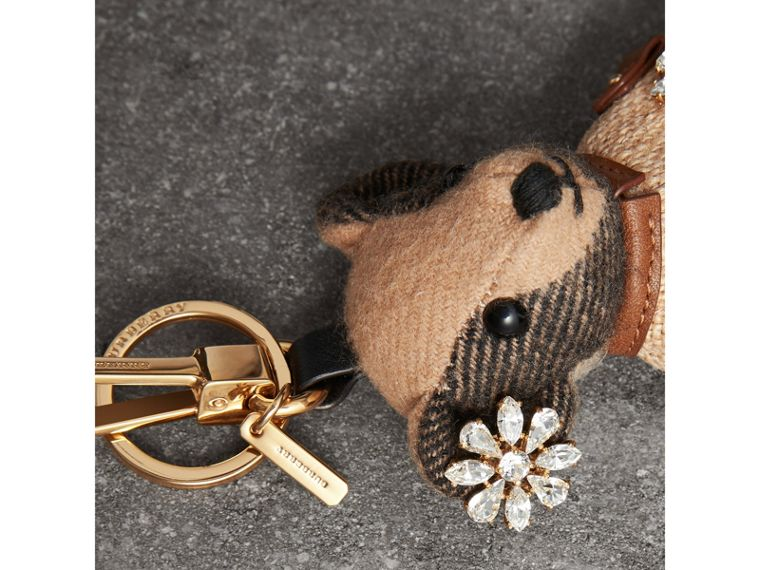 Thomas Bear Charm in Cape with Crystals in Camel | Burberry United Kingdom - cell image 1