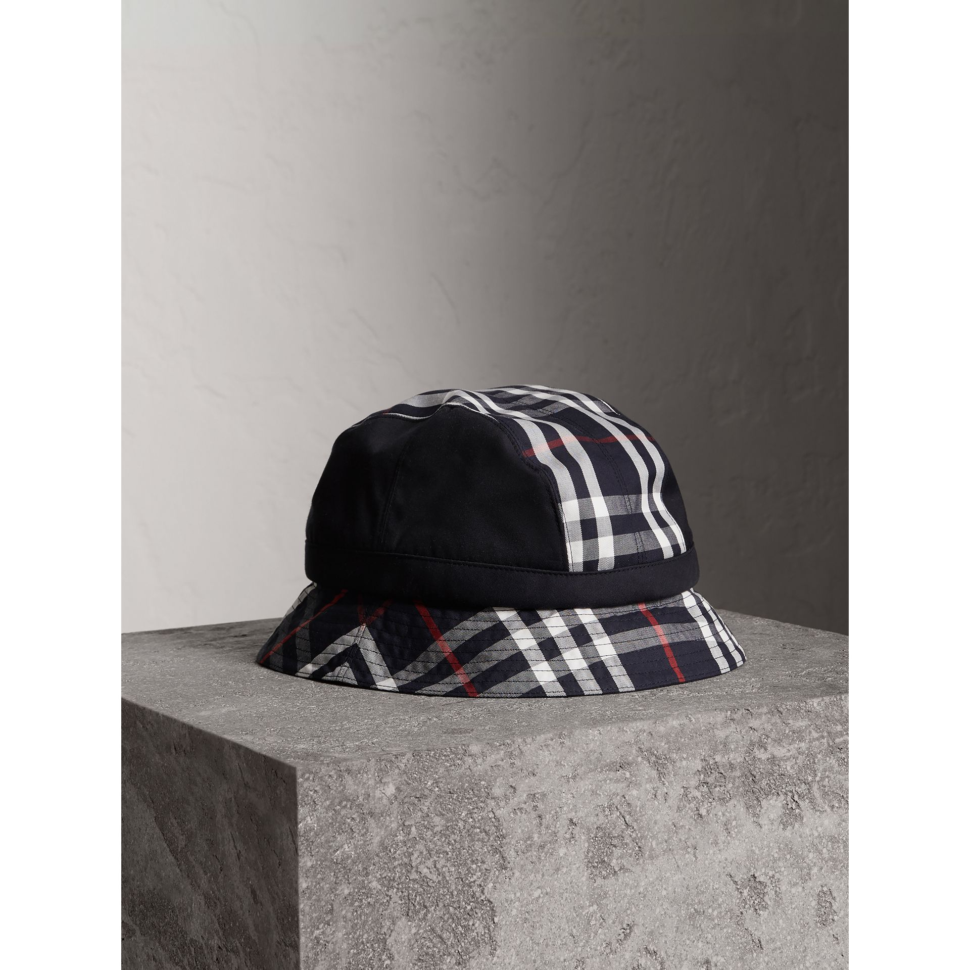 Gosha x Burberry Bucket Hat in Navy | Burberry United Kingdom - gallery image 0