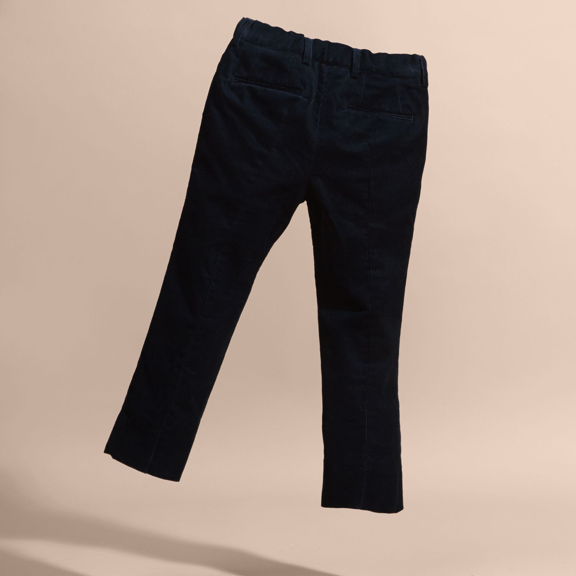 Navy Wool Cord Trousers - gallery image 4