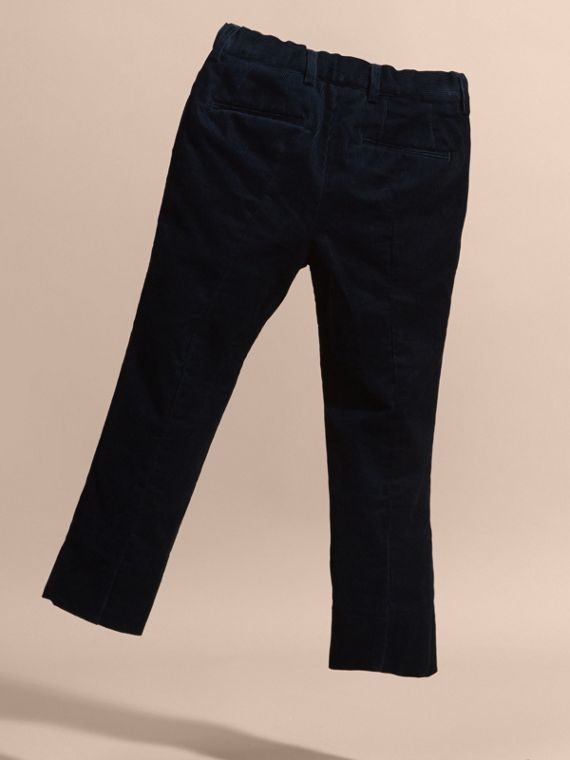 Navy Wool Cord Trousers - cell image 3