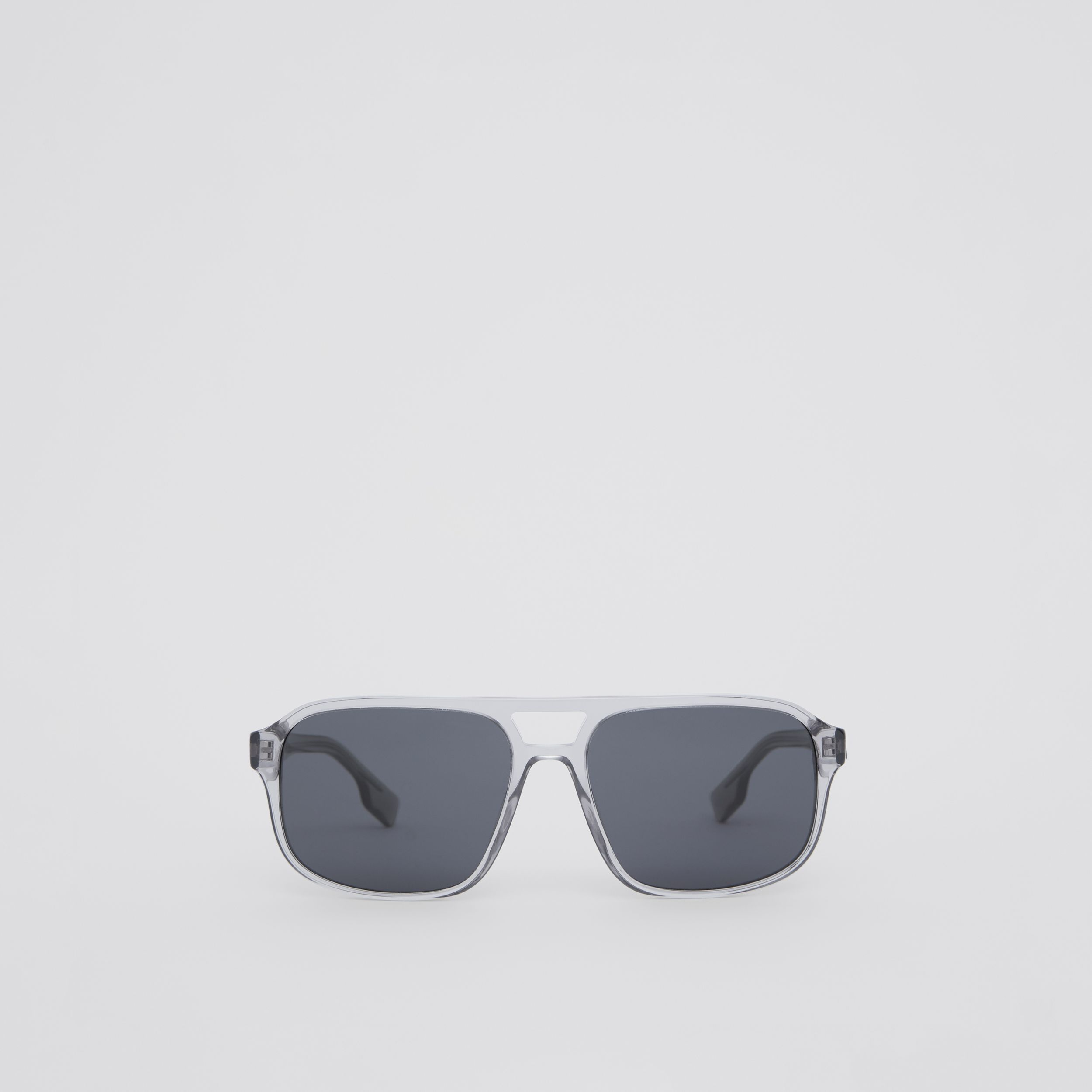 Square Frame Sunglasses in Grey - Men | Burberry - 1