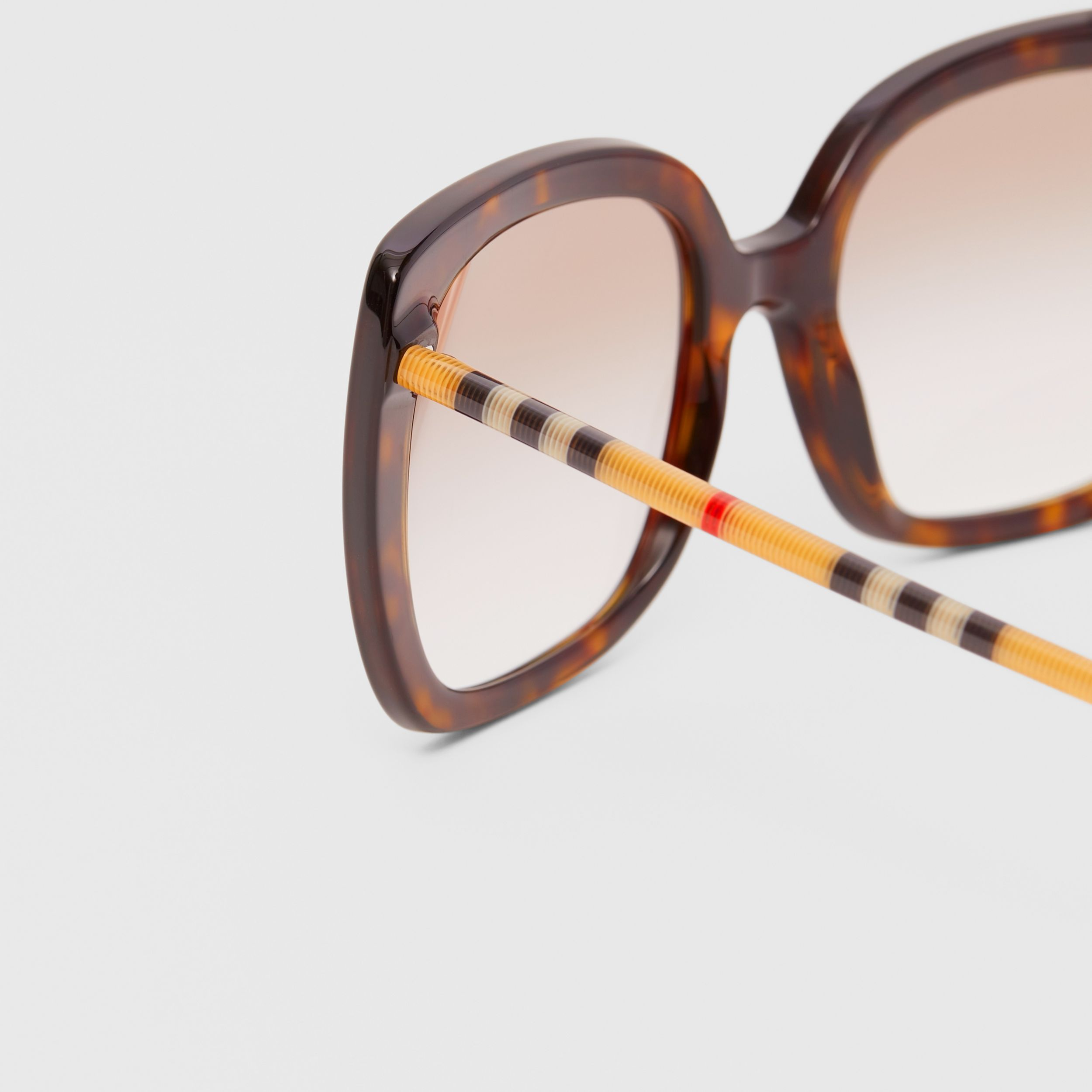 Oversized Square Frame Sunglasses in Tortoiseshell - Women | Burberry Canada - 2