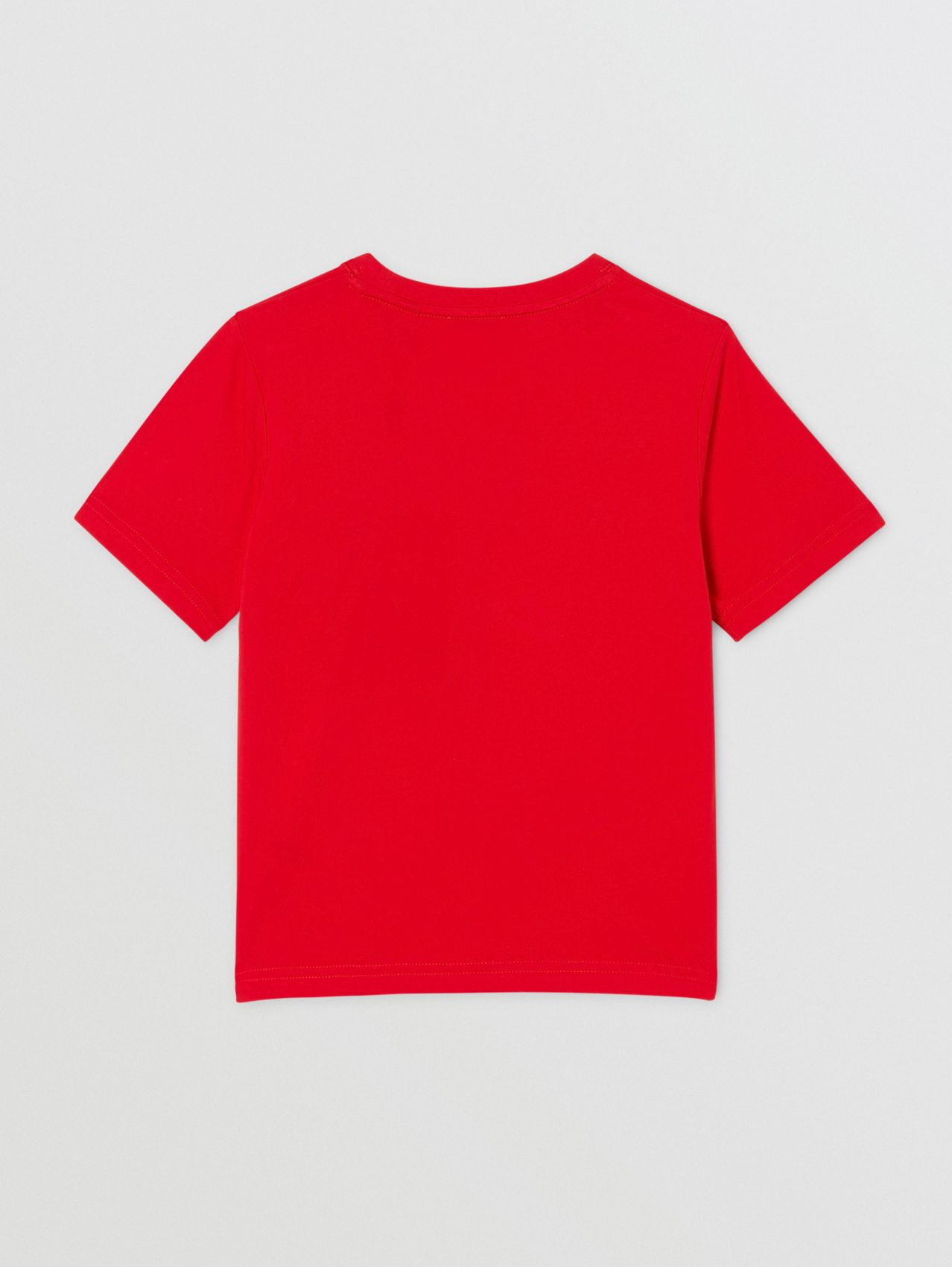 Logo Graphic Print Cotton T-shirt in Bright Red