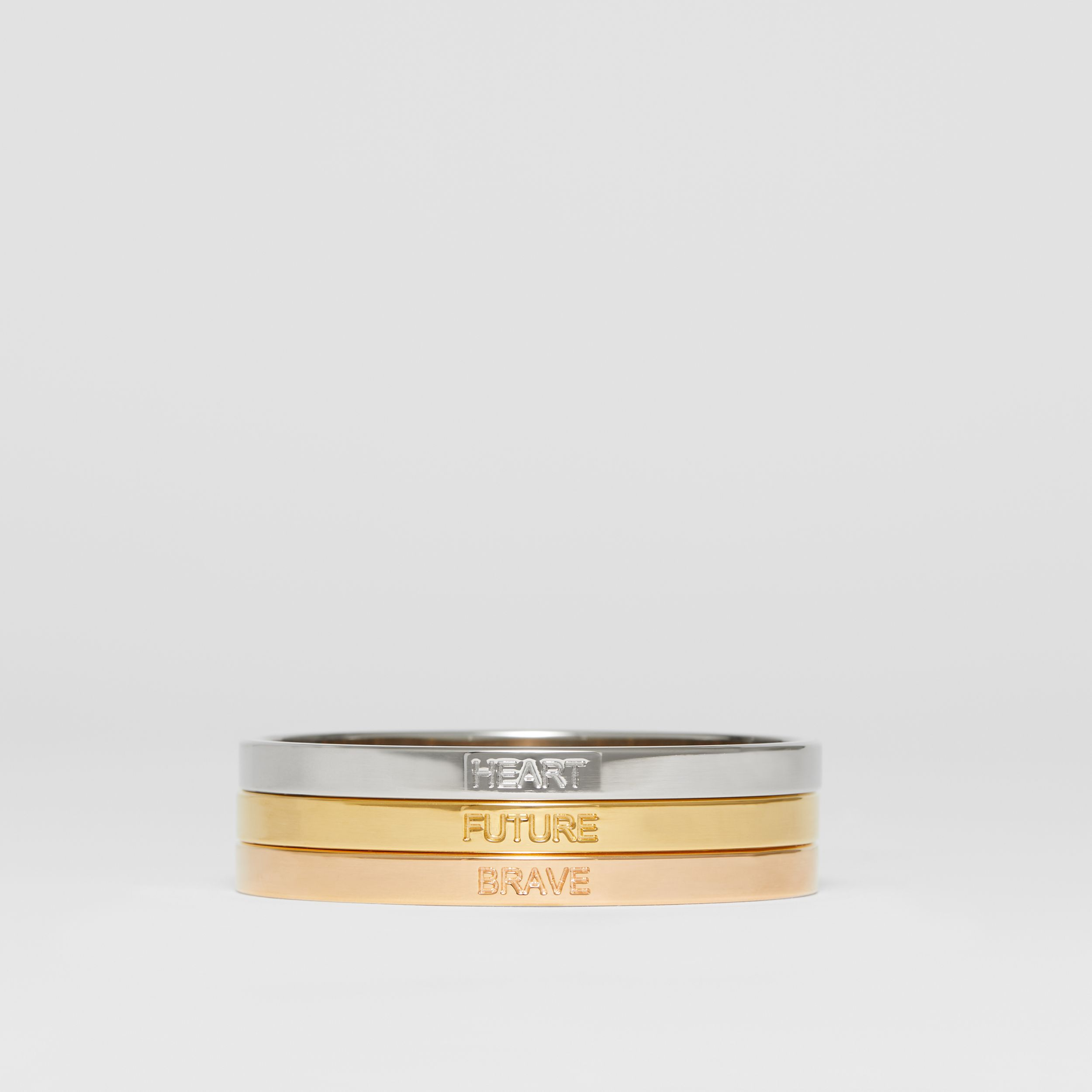 Rose Gold, Palladium and Gold-plated Bangles in Light Gold/rose Gold/palladium - Women | Burberry - 1