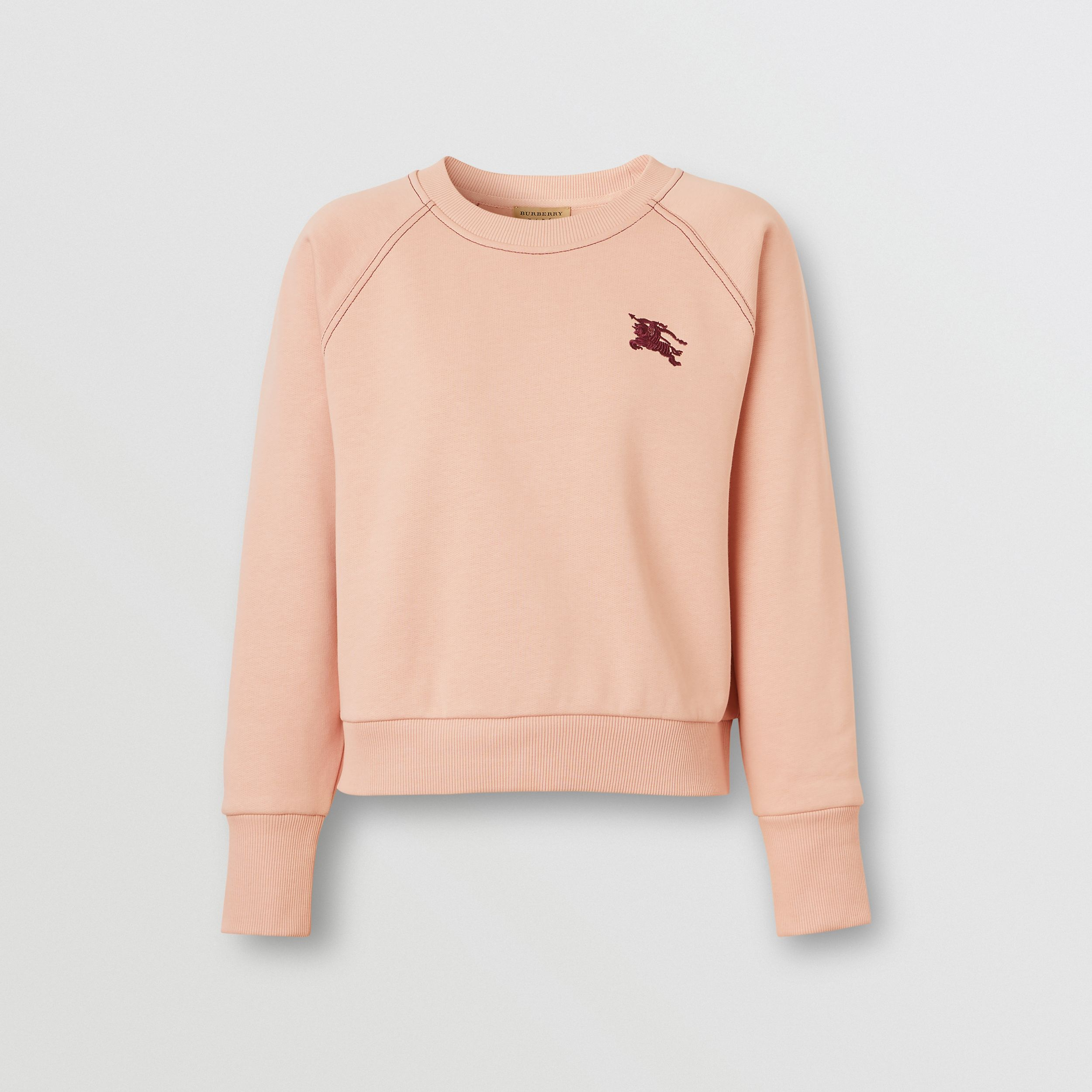 Embroidered EKD Jersey Sweatshirt in Ash Rose - Women | Burberry - 1
