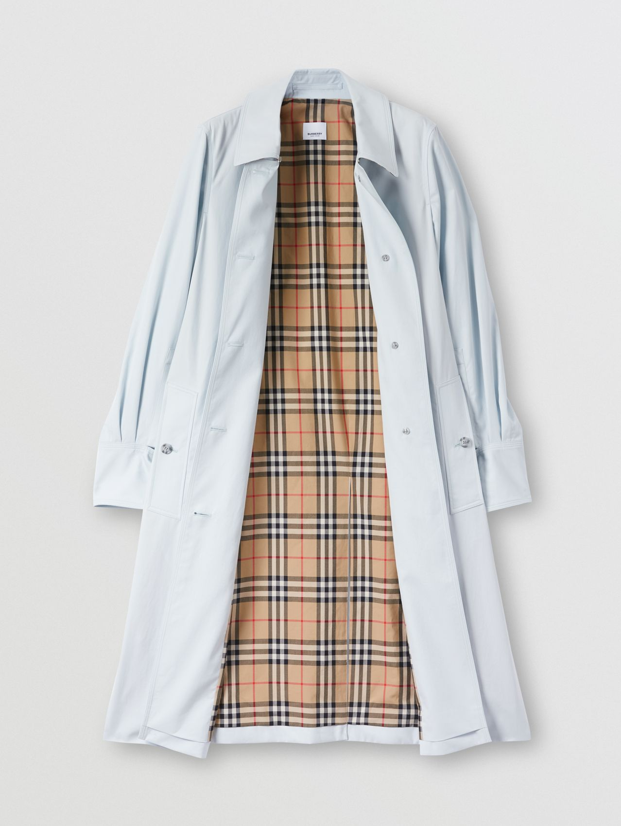 Tropical Gabardine Car Coat in Pale Blue